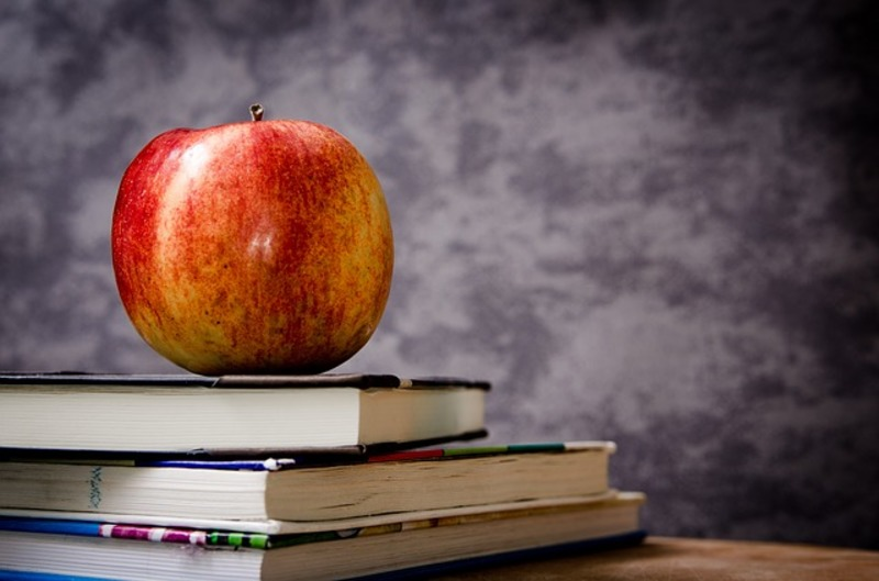 apple and books  - No Shame in Happiness