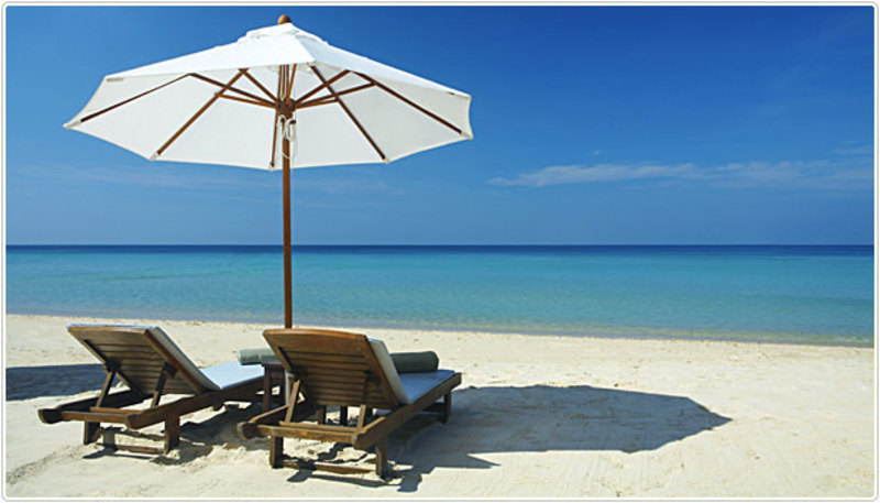 beach relaxing sand water ocean holiday  - Finding that happy work/life medium