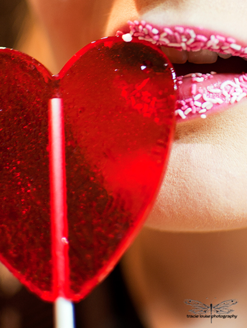 Tracie Louise Photography, heart, lollypop 